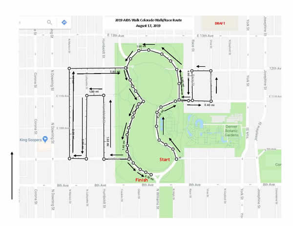 AIDS Walk course map
